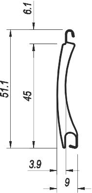 Profil aluminiowy Pa 45